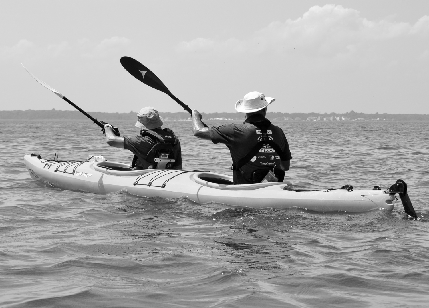 Kayakers at the 2015 Coastal Team Challenge.