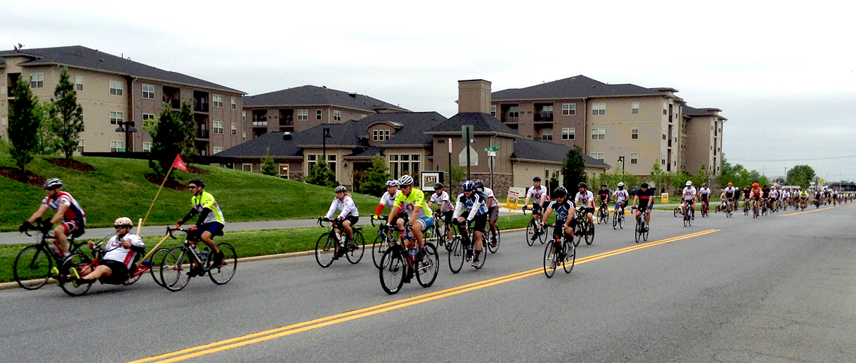 Riders pass through Frederick, Maryland