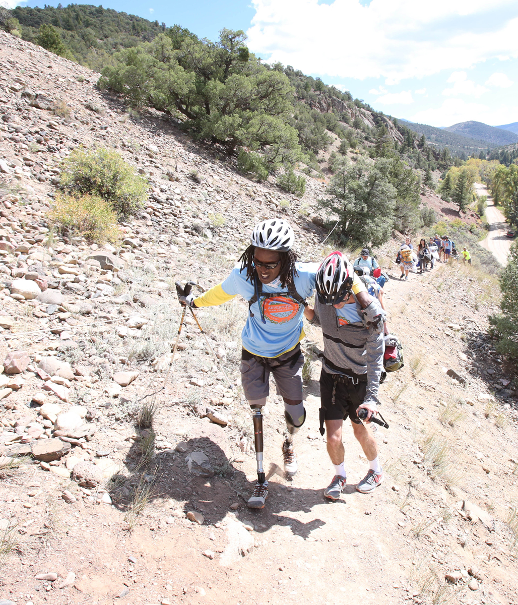 Hiking in the 2015 Adventure Team Challenge Colorado.