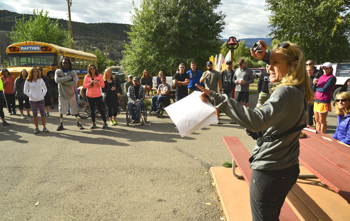 Helene Mattison Instructs the Athletes