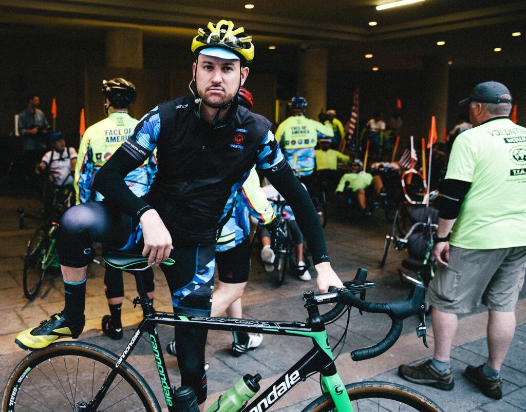Jon Brideau on his bike