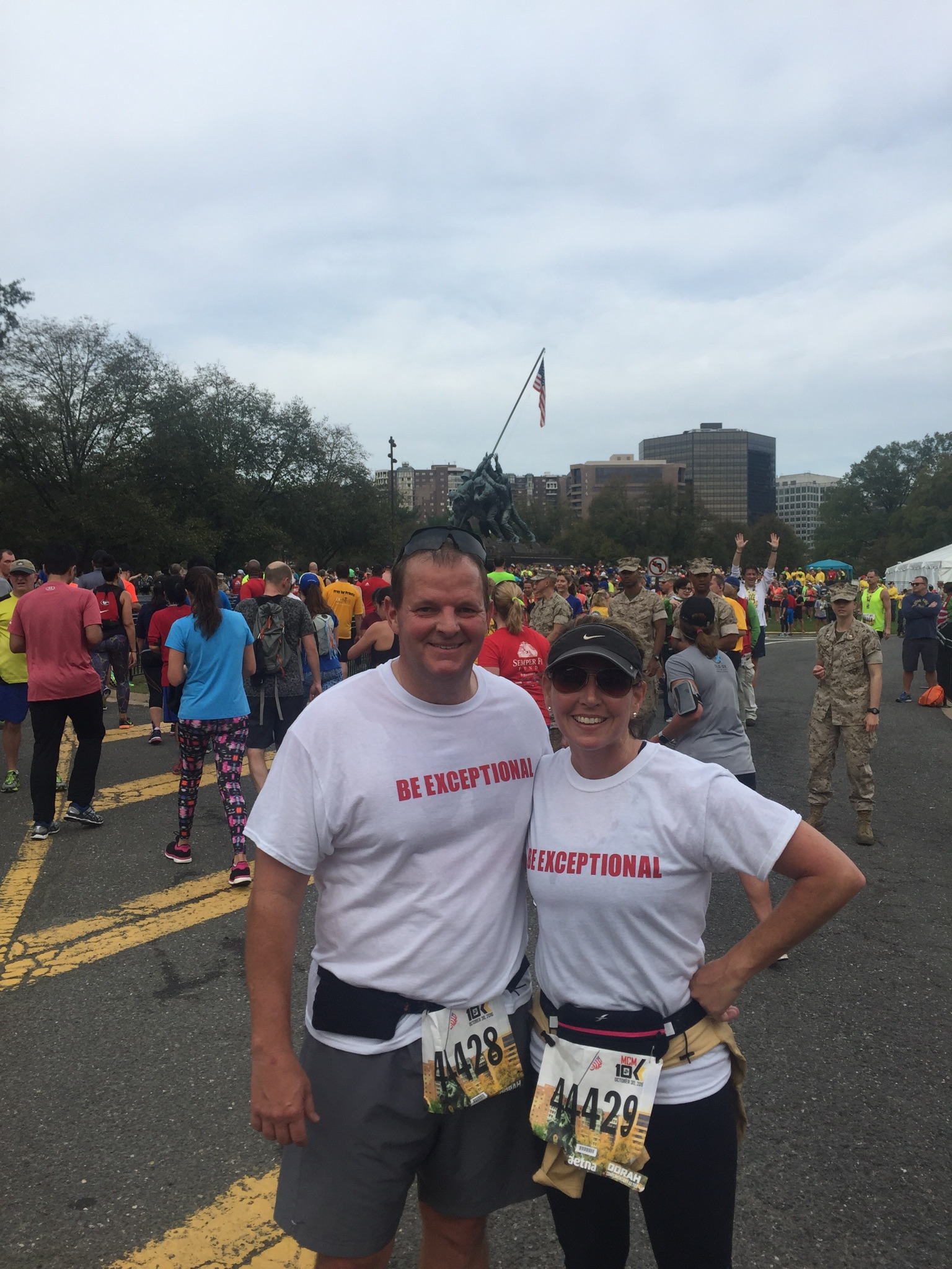 Van and Allyson Brinson at the Marathon