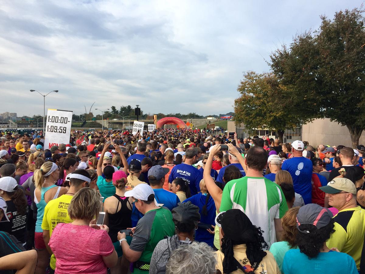 Starting line for 10K Run