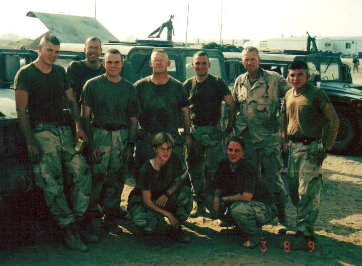 Sgt. Clayton Rankin in Iraq.