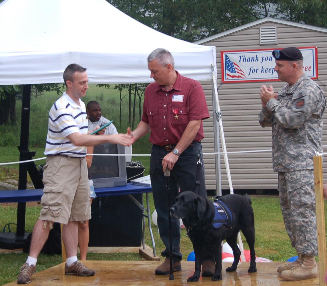 Sgt. Clayton Rankin receives his bronze star.