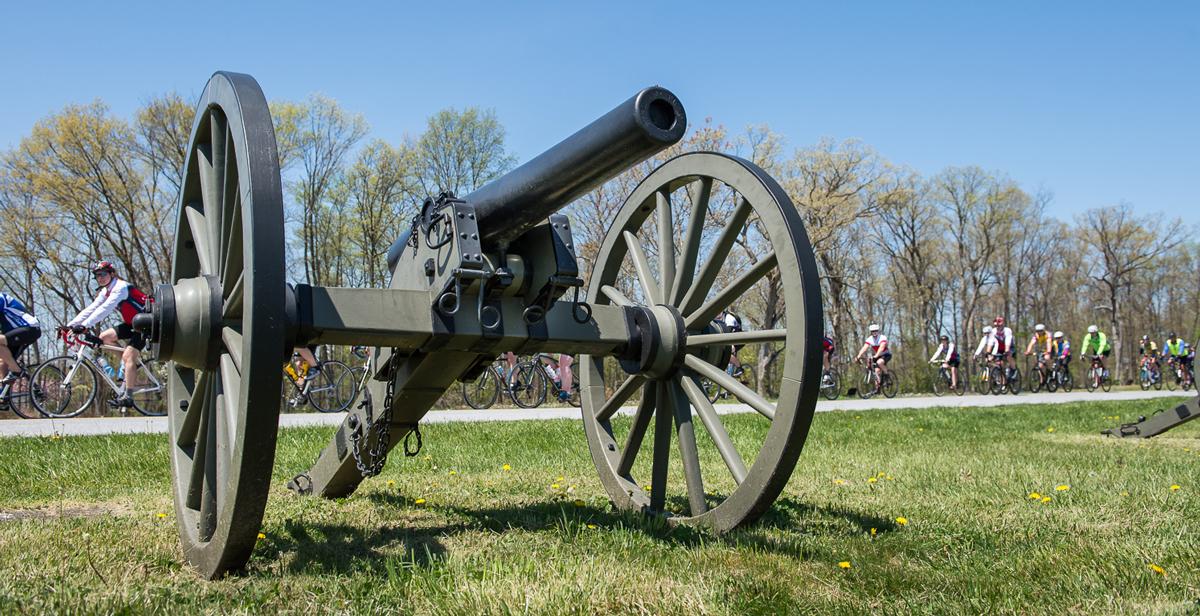Civil War cannon at Gettysburg