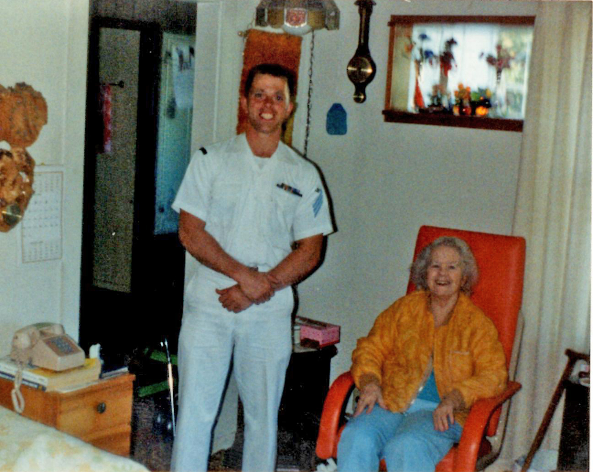 Lester Lane and his Grandmother