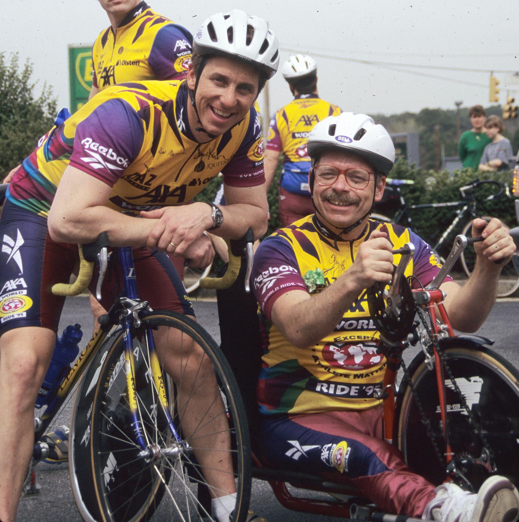 Rory McCarthy and Greg LeMond.