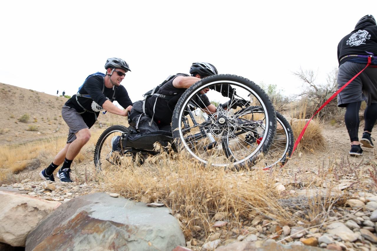 Hand cycle action at Adventure Team Challenge Colorado