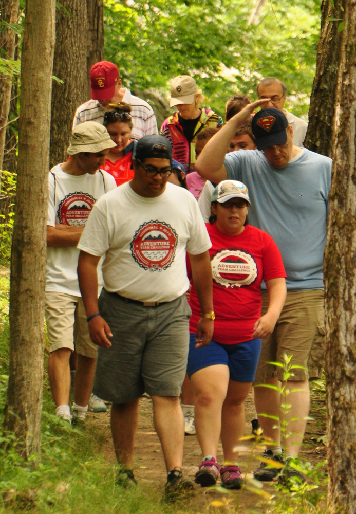 Hiking at the 2014 Challenge.