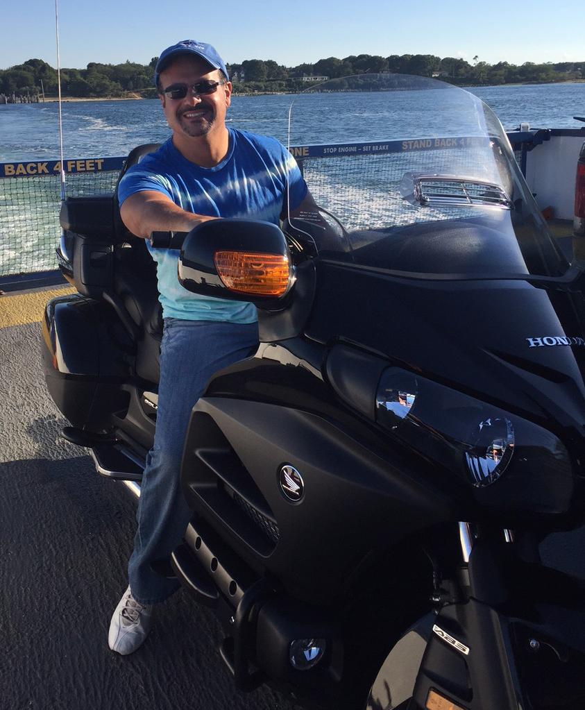 George Elkin and his Honda.