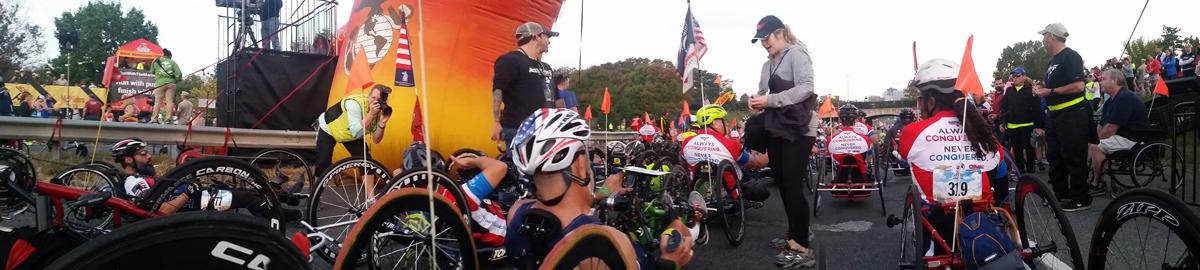 Starting line at the Marine Corps Marathon