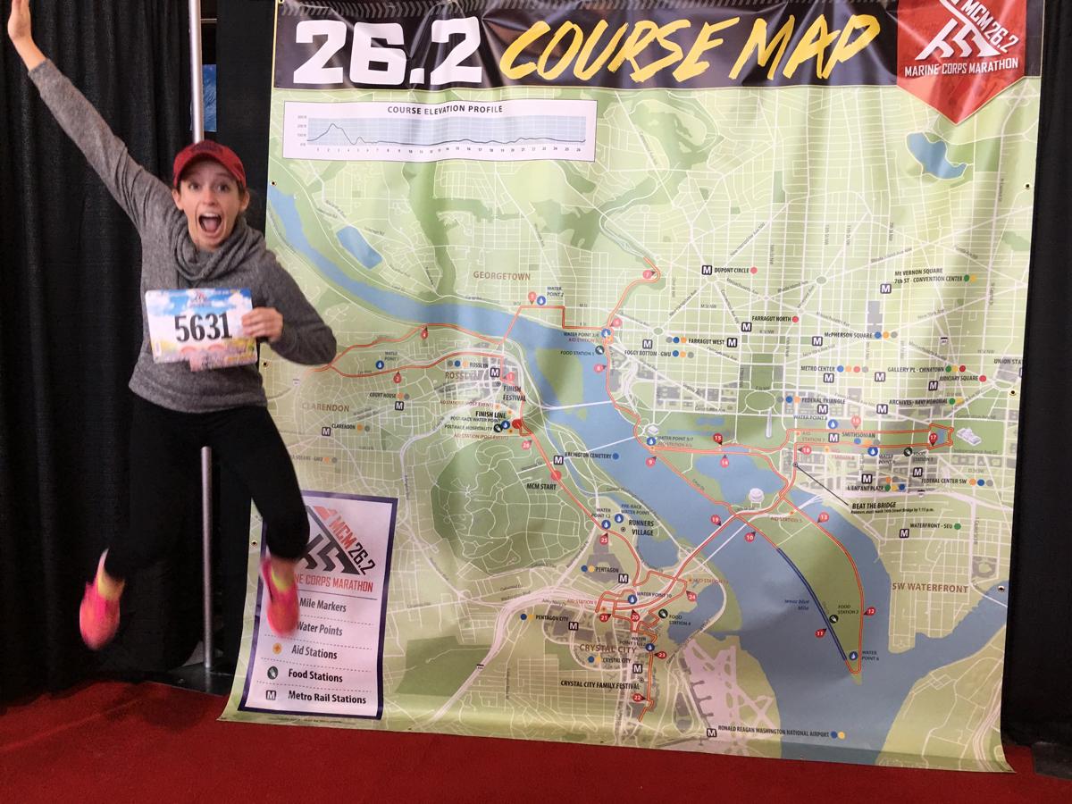 Jeanna Buck at the 2016 Marathon