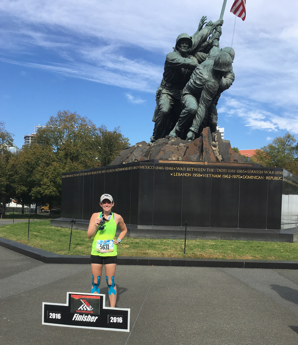 Jeanna Buck at the Marine Corps Memorial.