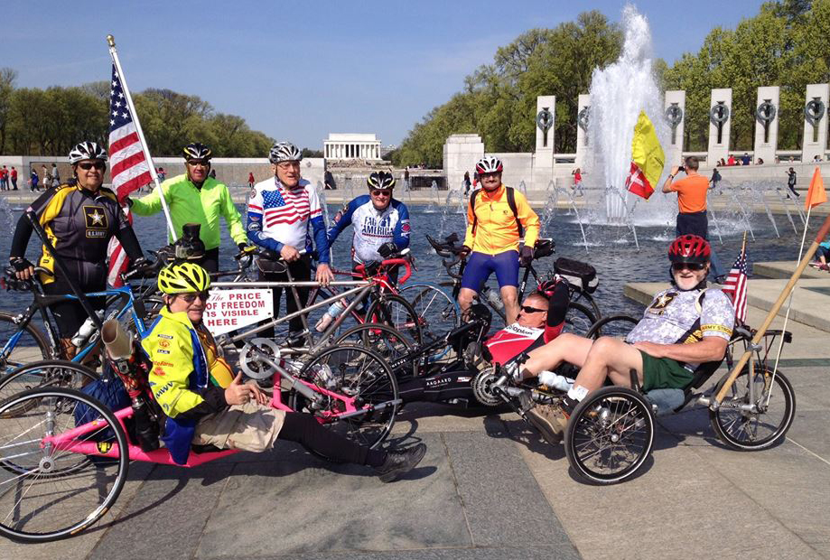 Memorial riders on the National Mall.