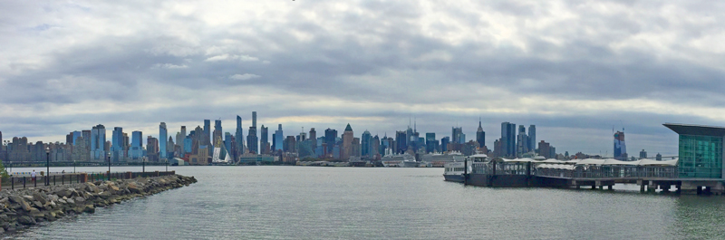 New York skyline from New Jersey.