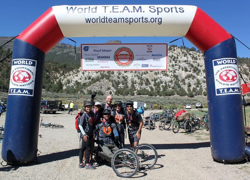 Team Skanska at the 2015 Adventure Team Challenge finish.