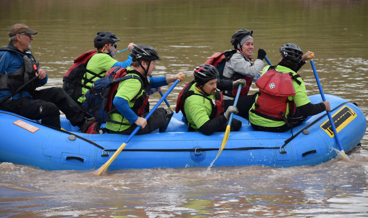 Rafting during the Challenge.