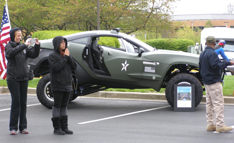 Veteran Corps of America rally car.