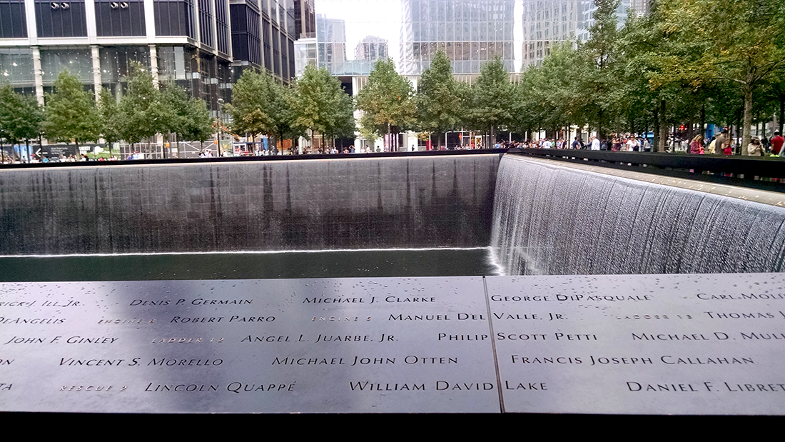 One of the reflecting pools at the World Trade Center