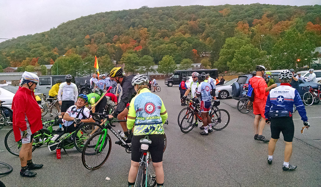 Preparing for the Face of America Liberty ride.