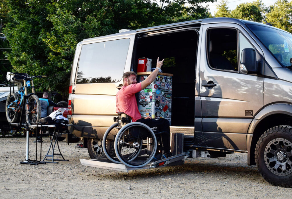 Ryan St. Lawrence and his van.