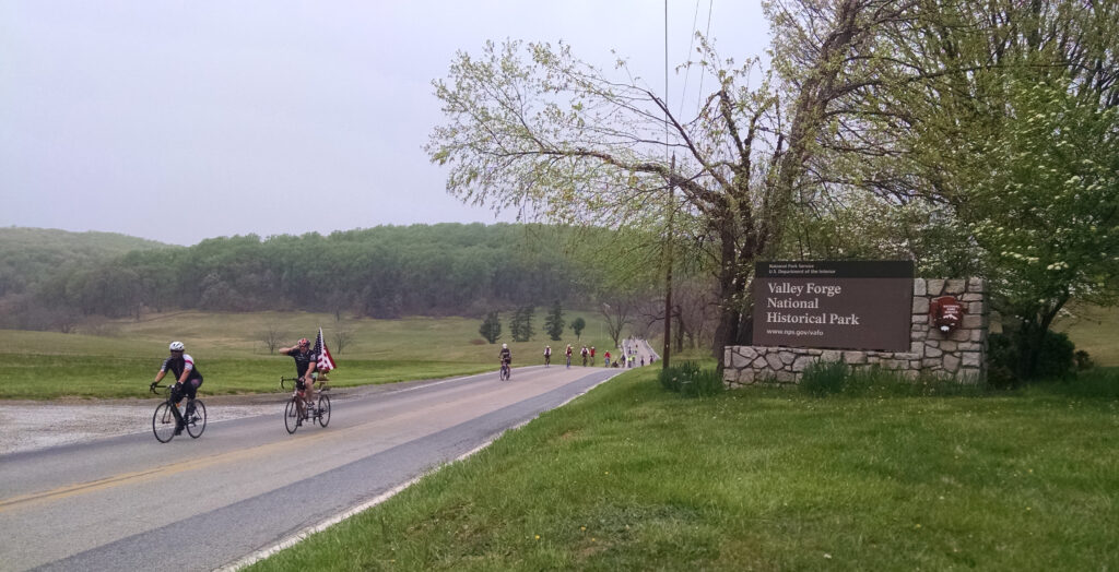 Face of America riders at Valley Forge.