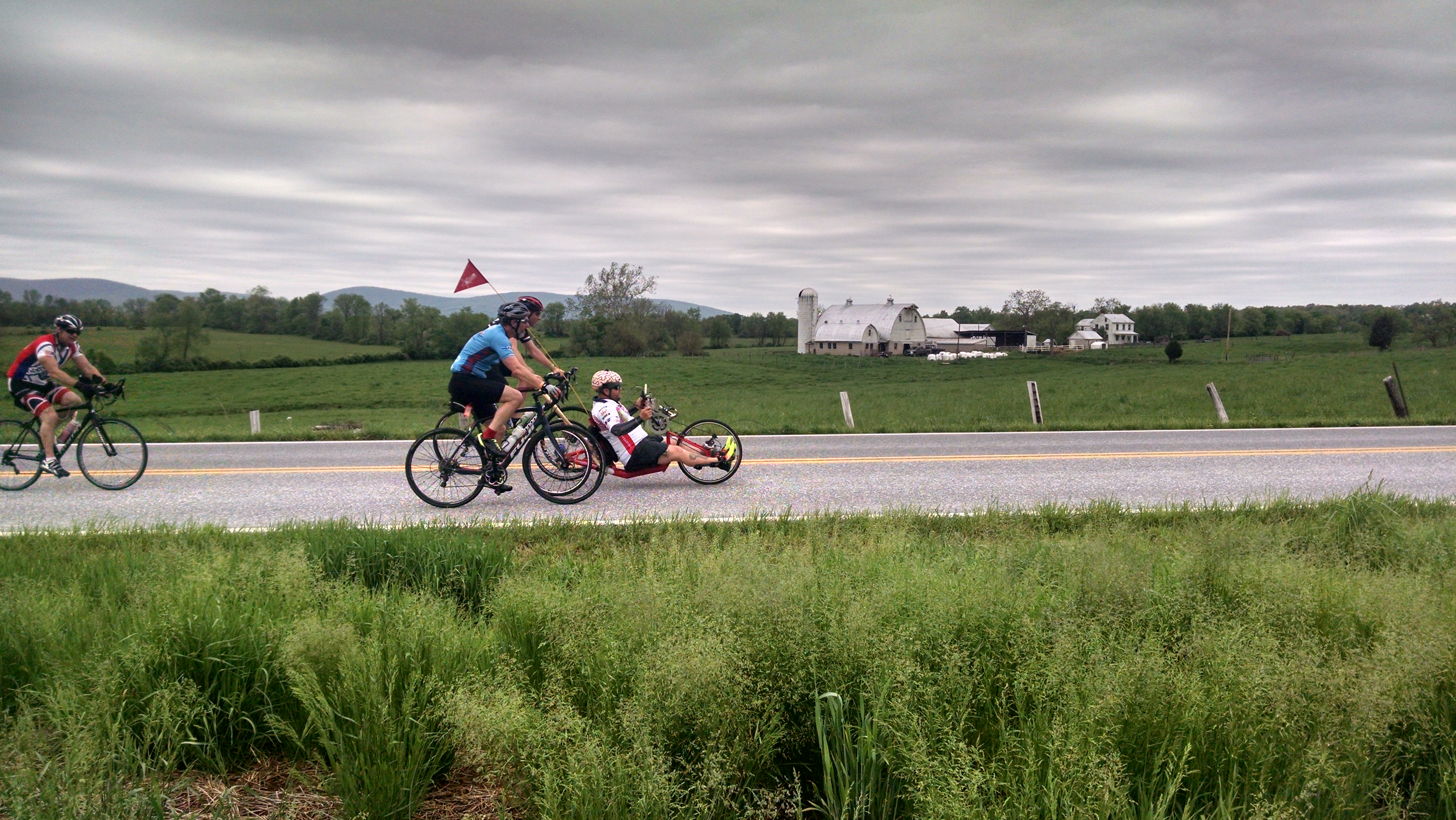 Riding north from Frederick