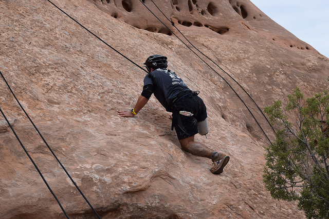 Climbing the Hershey's Kiss.