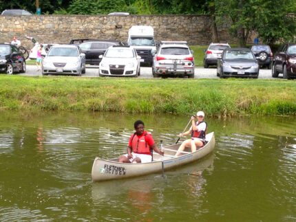 Paddling in the C & O Canal.